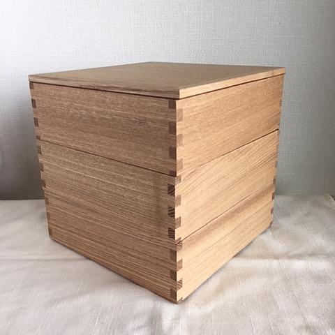 白木塗 三段お重箱