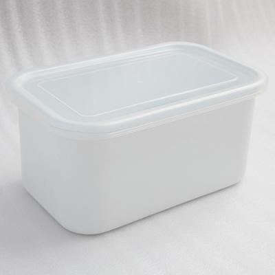 【10%OFF】琺瑯容器レクタングル深型LL