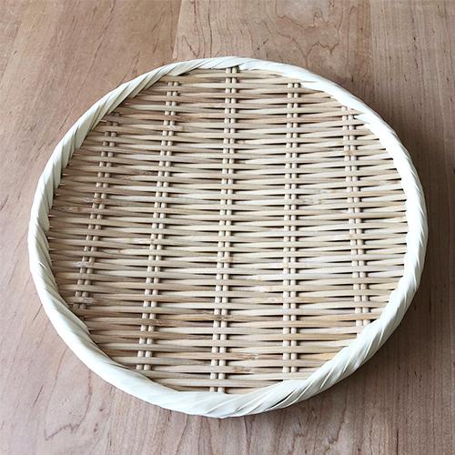 【入荷待ち】竹製藤巻盆ざる24cm