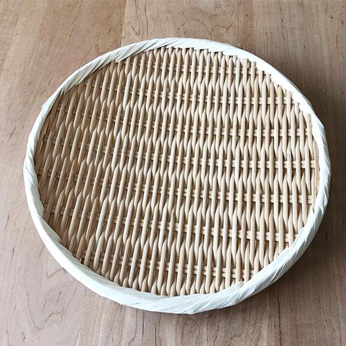 【入荷待ち】竹製藤巻盆ざる27cm