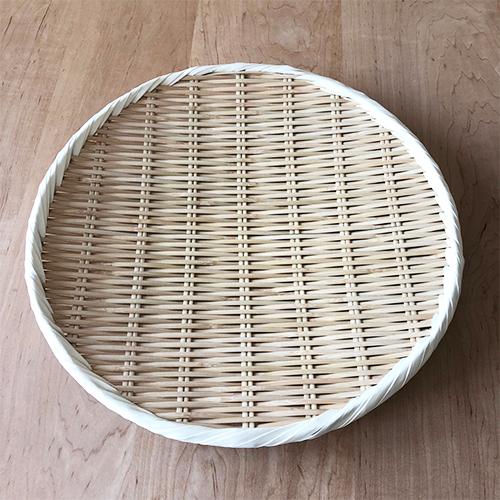 竹製藤巻盆ざる33cm