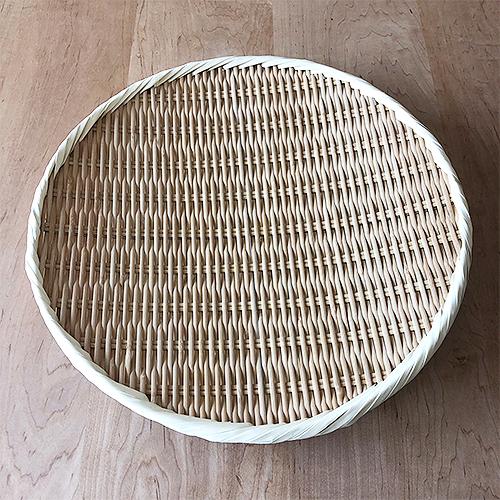 竹製藤巻盆ざる36cm