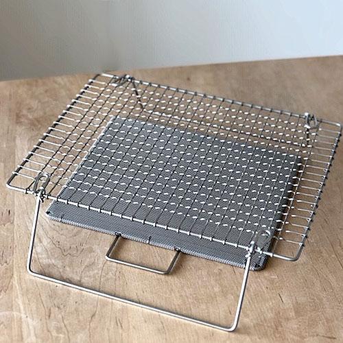 辻和金網 足付焼網(セット)長方形