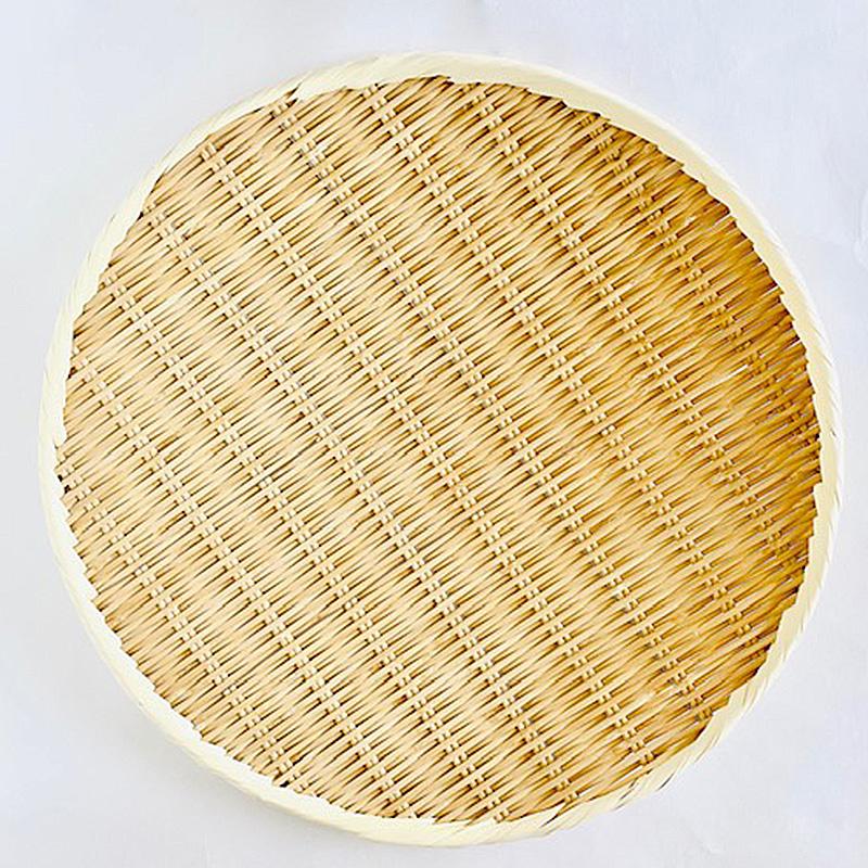 竹製藤巻盆ざる42cm(梅干し2kg)