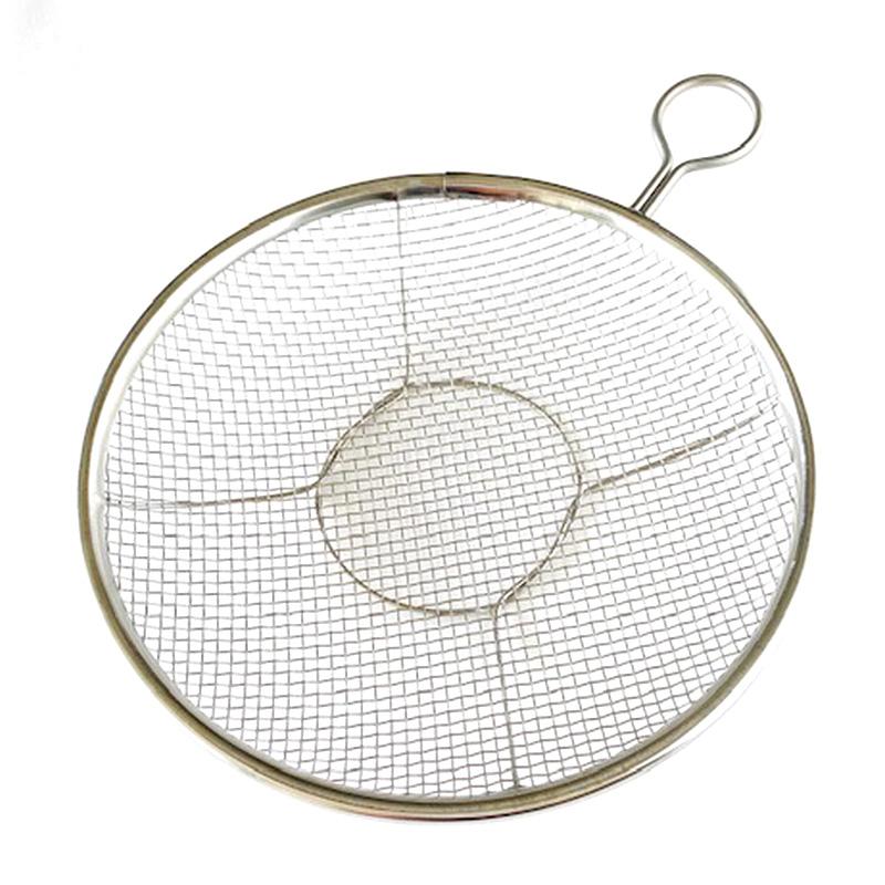 ステンレスのリング付盆ザル24cm