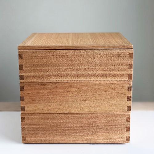 松屋漆器店 白木塗三段お重箱