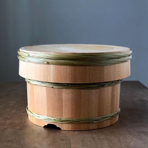 【受注生産】青木さんの竹タガおひつ18cm【棕櫚たわし極メ付き】