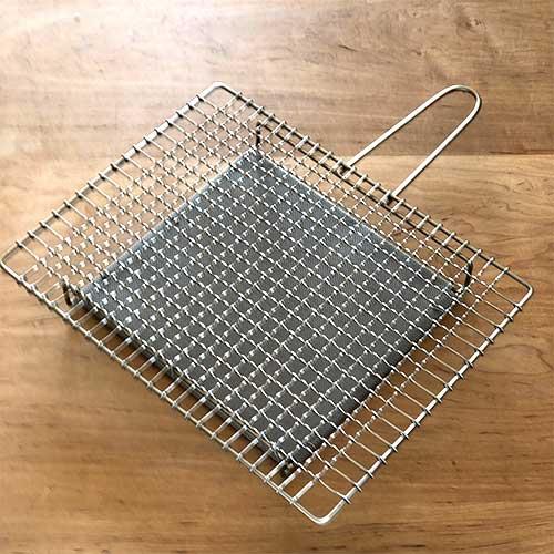 【入荷しました】辻和金網 手付焼網(長方形)